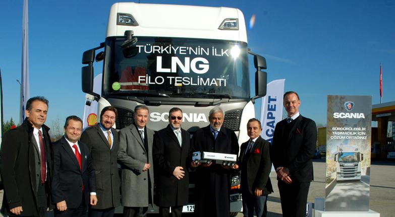Scania İlk LNG teslimatını yaptı