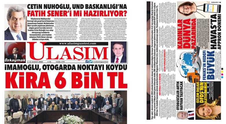 179'uncu Sayı ULAŞIM GAZETESİ