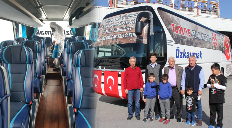 Özkaymak Turizm'in otobüsleri tertemiz