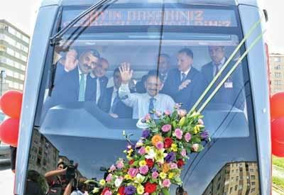Bozankaya'nın tramvayları, Kayseri'den geçti