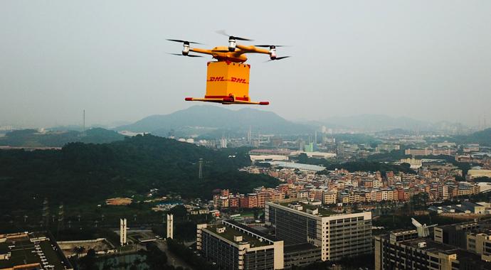 Drone ile dağıtım hizmeti başladı