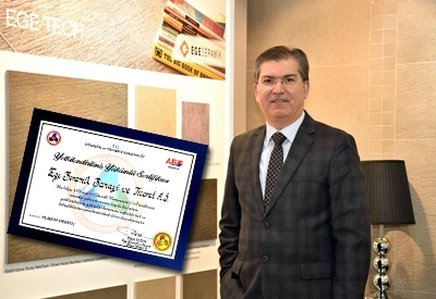 Ege Seramik Yetkilendirilmiş Yükümlü belgesi aldı