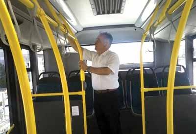 Halk otobüslerinde klima denetimi