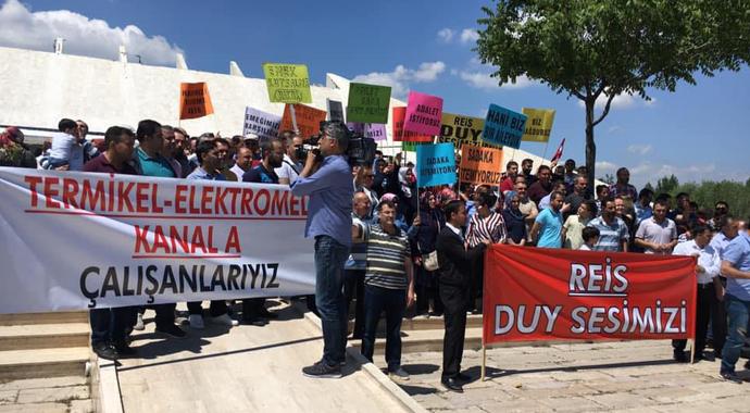 Mağdur olan Termikel işçileri eylem yaptı