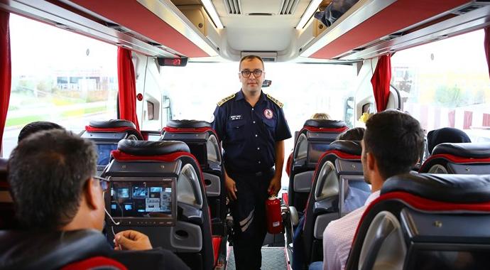 Otobüs yangınlarında Türkiye'de bir ilk!