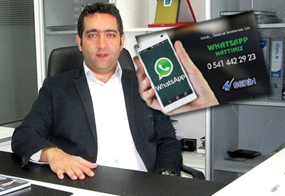 Serin Whatsapp hattı kurdu