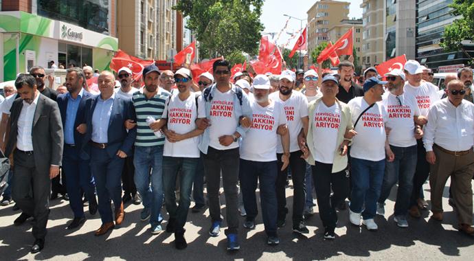 Servisçileri Ankara'ya yürütmediler
