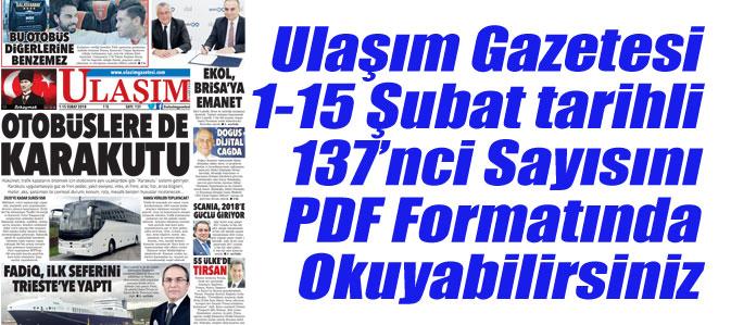 137'nci Sayı ULAŞIM GAZETESİ