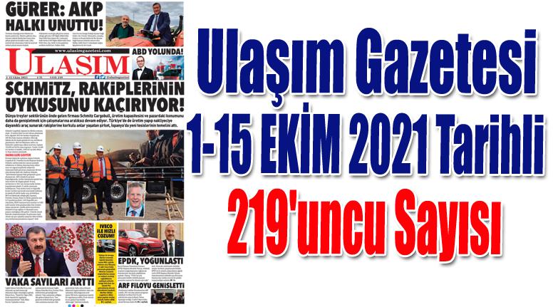 219'uncu Sayı ULAŞIM GAZETESİ
