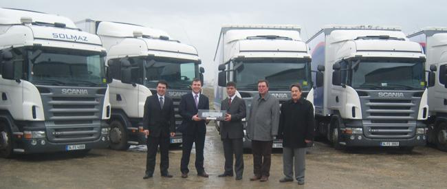 Solmaz, ilk Scania'larını aldı