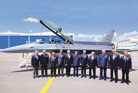 Türkiye'de yapılan ilk F-16 Hava Kuvvetleri'nde