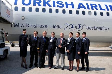 THY'nin yeni uçuş noktası Kinşasa