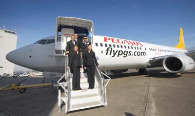Pegasus, Frankfurt'a uçuyor