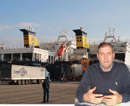 Un Ro-Ro Saras'ın TIR'larını gemiye almadı