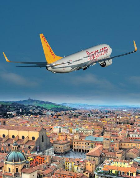 Pegasus, Bologna'ya uçuyor