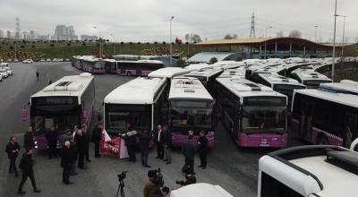 Eylemci otobüsler hattan çekildi