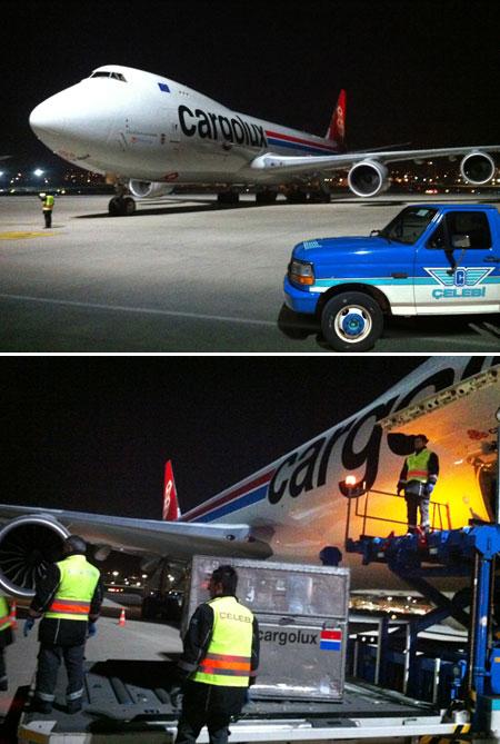 Dev kargo uçağı Türkiye'ye ilk kez indi