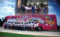 Gençlik otobüsü yola çıktı rota: Avrupa