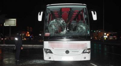 Otobüslere çirkin saldırı