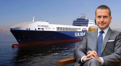 UN Ro-Ro Patras Limanı'na Türk Bayrağı dikti